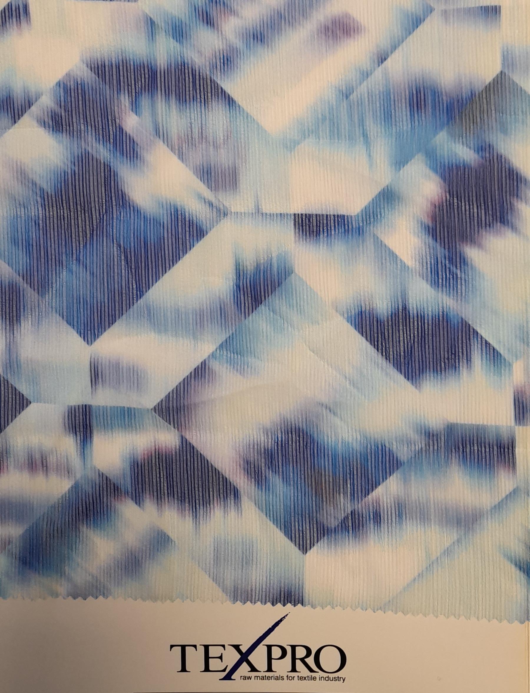 crepon stripy blu
