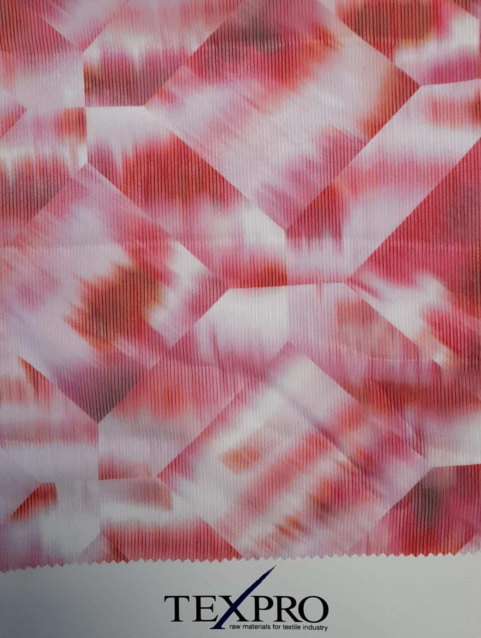 crepon stripy rosa